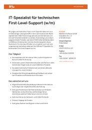 IT-Spezialist für technischen First-Level-Support (w/m) - MailStore