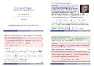 Elemente der Analysis I Kapitel 10: Integralrechnung - Mathematik