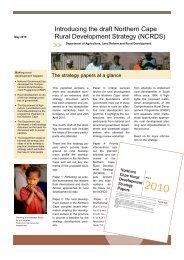 Introducing the draft Northern Cape Rural Development ... - Phuhlisani