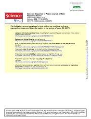 DOI: 10.1126/science.1138878 , 1718 (2007); 316 Science et al ...