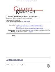 A Genome-Wide Survey of Human Pseudogenes - Computational ...