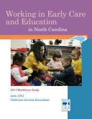 Working in Early Care and Education - Child Care Services ...