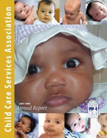 CCSA's 2007-2008 annual report - Child Care Services Association