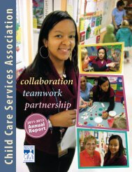 CCSA's 2011-2012 Annual Report - Child Care Services Association