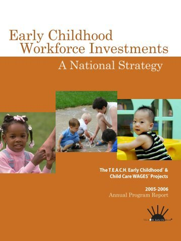 Early Childhood Workforce Investments - Child Care Services ...