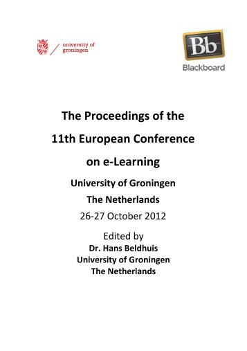 The Proceedings of the 11th European Conference on e-Learning