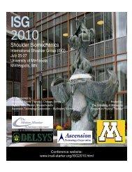 ISG 2010 Conference Program.pdf - International Shoulder Group