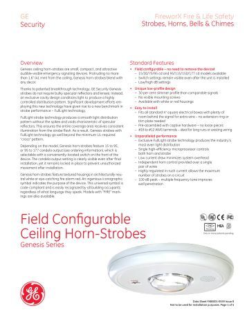 Commander4 Series Selectable Ceiling Mount Strobe And Horn