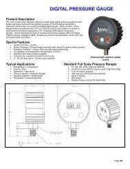 DIGITAL PRESSURE GAUGE - Gauges - Thermometers