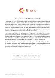 Language MEets Intercultural Competences (LiMErIC) L'educazione ...