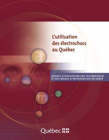 L'utilisation des électrochocs au Québec - La psychiatrie nous ment