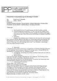 Protokoll der Vorstandssitzung vom Dienstag 17.01.2012 Ort - sggpp
