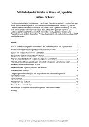 Selbstschädigendes Verhalten im Kindes - www.gesunde-schule ...