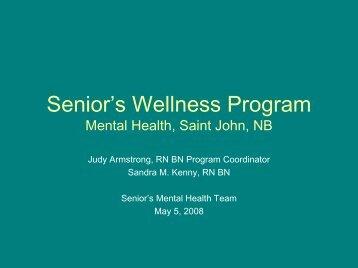 Senior's Wellness Program - Seniors Mental Health