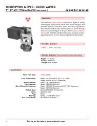 with TT or TM actuators (Higher Close-Off) - Neptronic