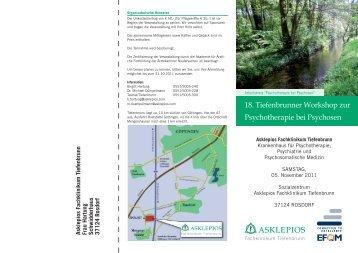 18. Tiefenbrunner Workshop zur Psychotherapie ... - Rudolf-heltzel.de