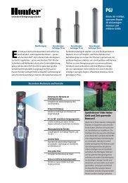 INT-209 PGJ Rotary Sprinklers Brochure - German - Hunter Industries