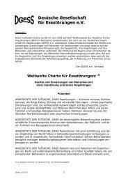 Weltweite Charta für Essstörungen - dgess