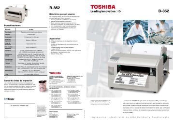 B-852 B-852 - Toshiba Tec