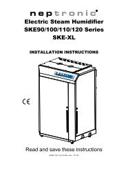 Installation and Operation Manual - Neptronic