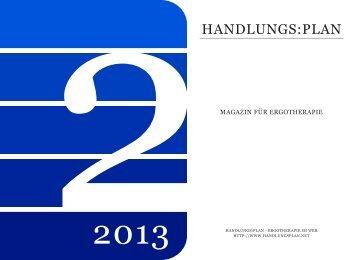 handlungs:plan-Magazin Ausgabe 2-2013