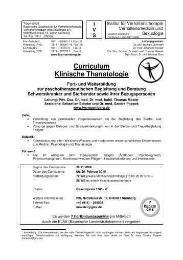 Curriculum Klinische Thanatologie - Institut für Verhaltenstherapie ...