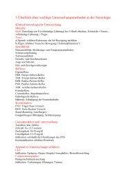 1 Überblick über wichtige Untersuchungsmethoden ... - Chlaugwitz.de