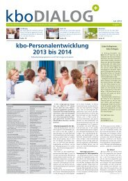 kbo-Personalentwicklung 2013 bis 2014 - Kliniken des Bezirks ...
