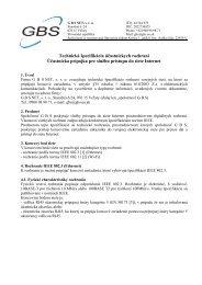 GBS NET, s.r.o., Staničná 6/24, 076 15 Veľaty