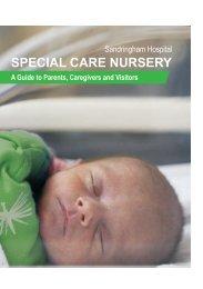 Spacial Care Nursery's Information Brochure - Alfred Hospital
