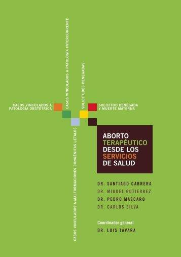 ABORTO TERAPÉUTICO DESDE LOS SERVICIOS DE SALUD