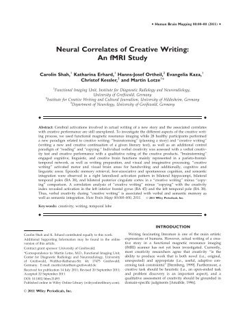 Neural Correlates - Baltic Imaging Center