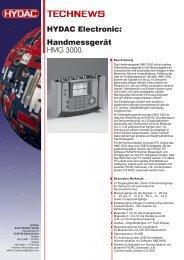 Handmessgerät HMG 3000. HYDAC Electronic:
