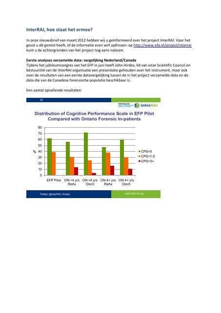 Lees hier meer over eerste onderzoeksresultaten - Efp