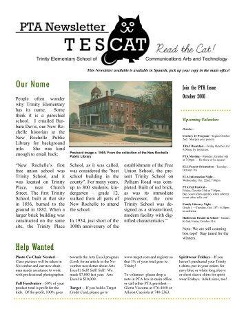 October Newsletter 2008