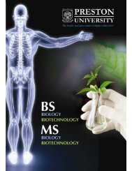 MS Biology, Biotechnology - Preston University