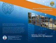 Virtual PTSD Experience - National Center for Telehealth and ...
