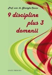 9 discipline plus 3 domenii Prof.univ.dr. Gheorghe Ceaușu - unatc