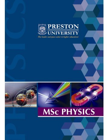 M. Sc Physics - Preston University