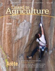 Spring 2013 - College of Agriculture - Montana State University