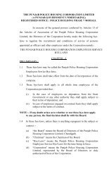 Bye-Laws - Punjab Police Housing Corporation