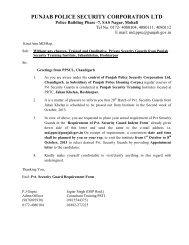 punjab police security corporation ltd - Punjab Police Housing ...