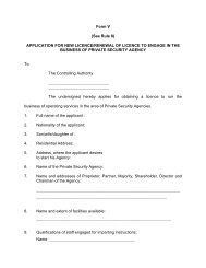 Form V (See Rule 8) APPLICATION FOR NEW LICENCE/RENEWAL ...