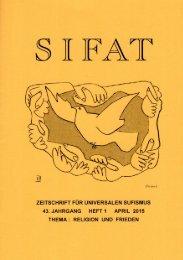 SIFAT - Zeitschrift für Universalen Sufismus - 2015 Heft 1 - April (Leseprobe)