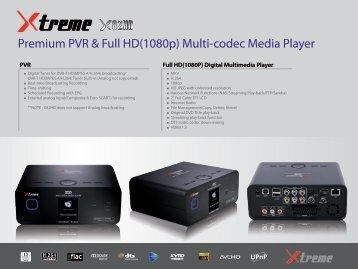 Premium PVR & Full HD(1080p) Multi-codec Media Player