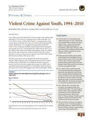 Violent Crime Against Youth, 1994 - 2010 - Office of Violent Sex ...