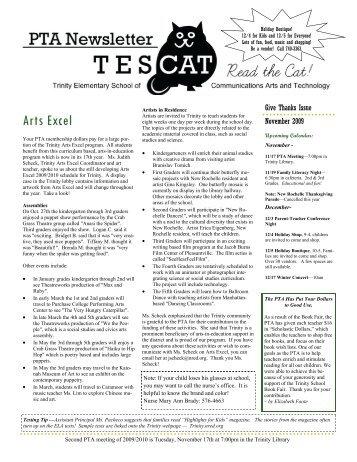 November Newsletter 2009