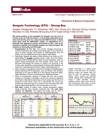 seagate technology buyout case Seagate technology seagate technology buyout case summary in may of 1999, seagate sold one of its companies, the network & storage management group (nsmg), to veritas in return for 155.