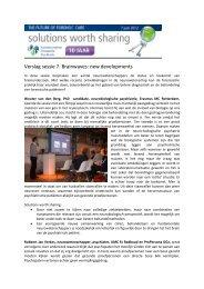 Verslag sessie 7. Brainwaves: new developments - EFP