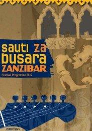 Festival Programme 2012 2,000 Tsh/= - Sauti za Busara